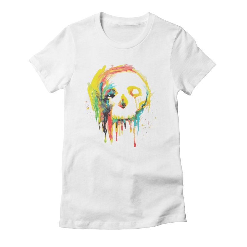 Happy/Grim Women's Fitted T-Shirt by Apparel by Marco aka ivejustquitsmoking