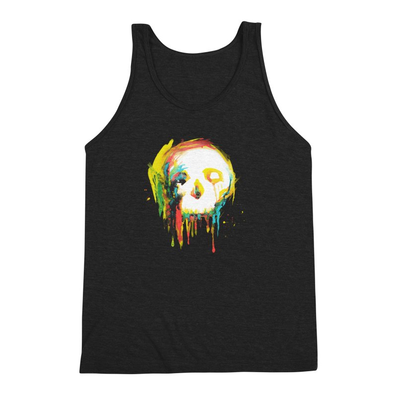 Happy/Grim Men's Triblend Tank by Apparel by Marco aka ivejustquitsmoking