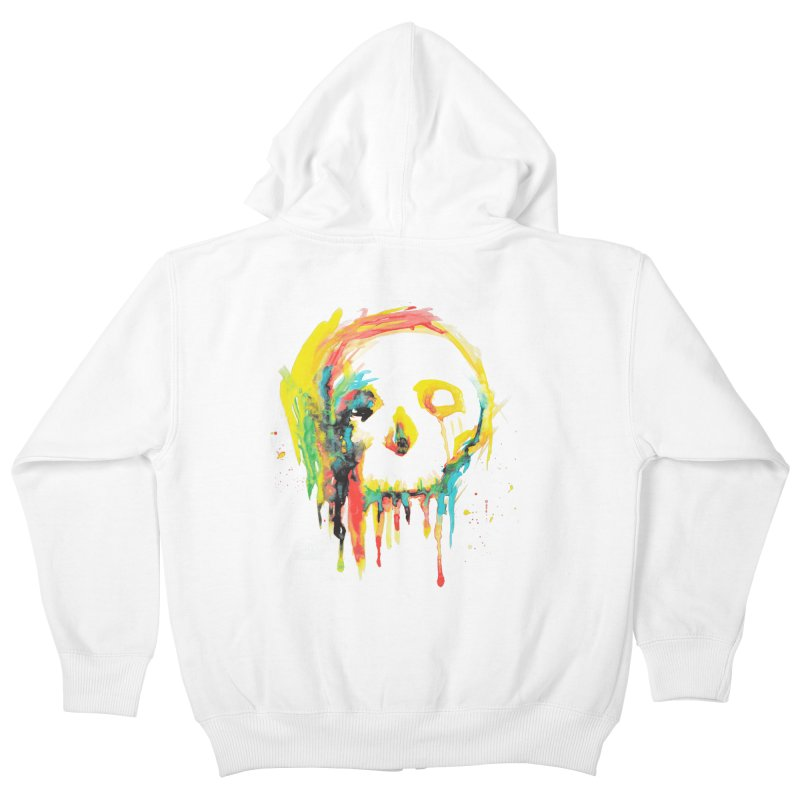 Happy/Grim Kids Zip-Up Hoody by Apparel by Marco aka ivejustquitsmoking