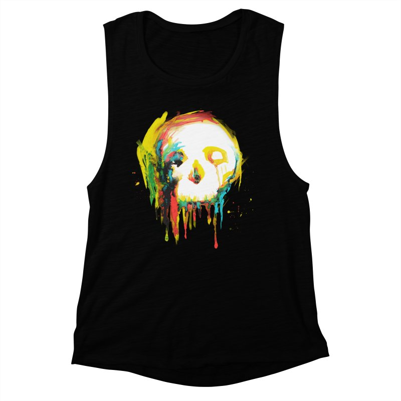 Happy/Grim Women's Muscle Tank by Apparel by Marco aka ivejustquitsmoking