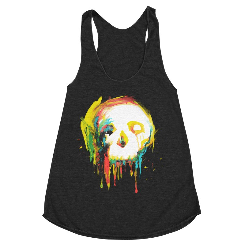 Happy/Grim Women's Racerback Triblend Tank by Apparel by Marco aka ivejustquitsmoking