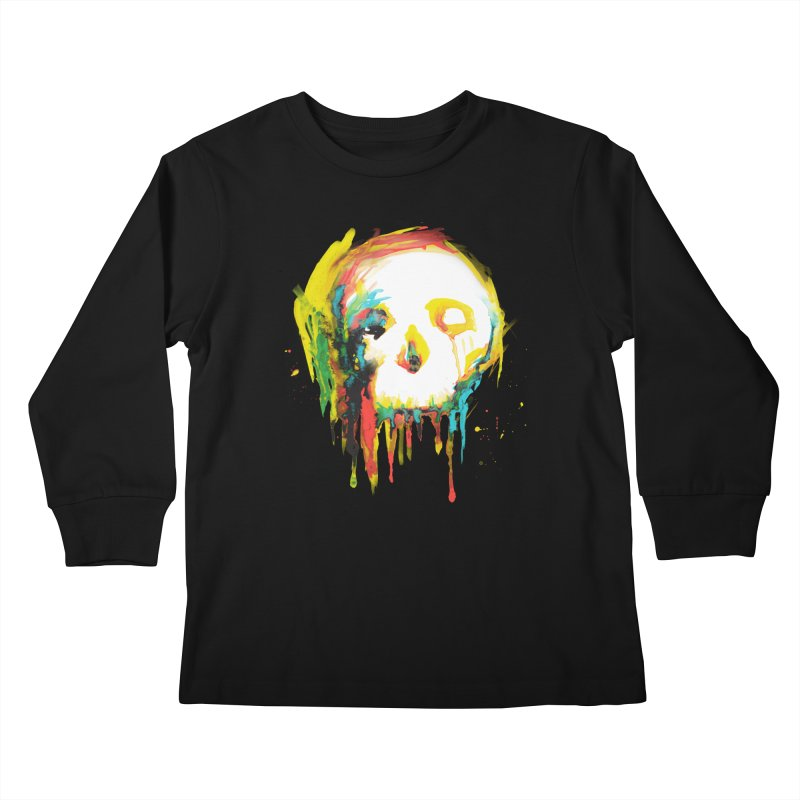 Happy/Grim Kids Longsleeve T-Shirt by Apparel by Marco aka ivejustquitsmoking