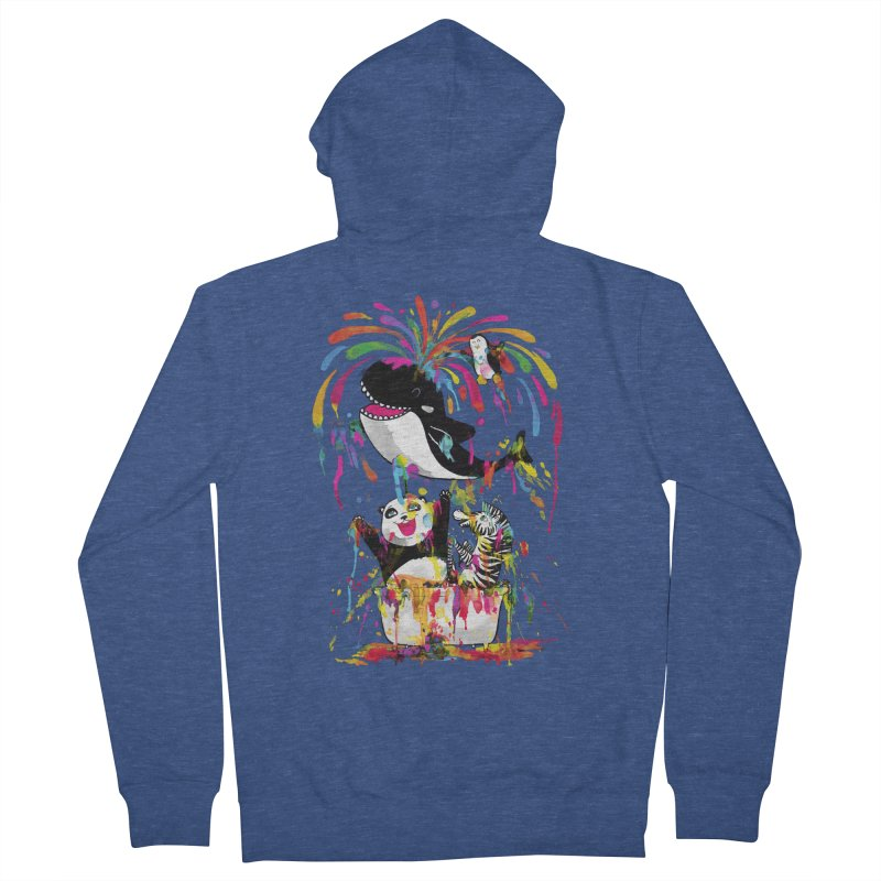 Whale of a Bath Time! Men's French Terry Zip-Up Hoody by Apparel by Marco aka ivejustquitsmoking