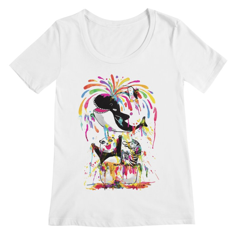 Whale of a Bath Time! Women's Scoopneck by Apparel by Marco aka ivejustquitsmoking