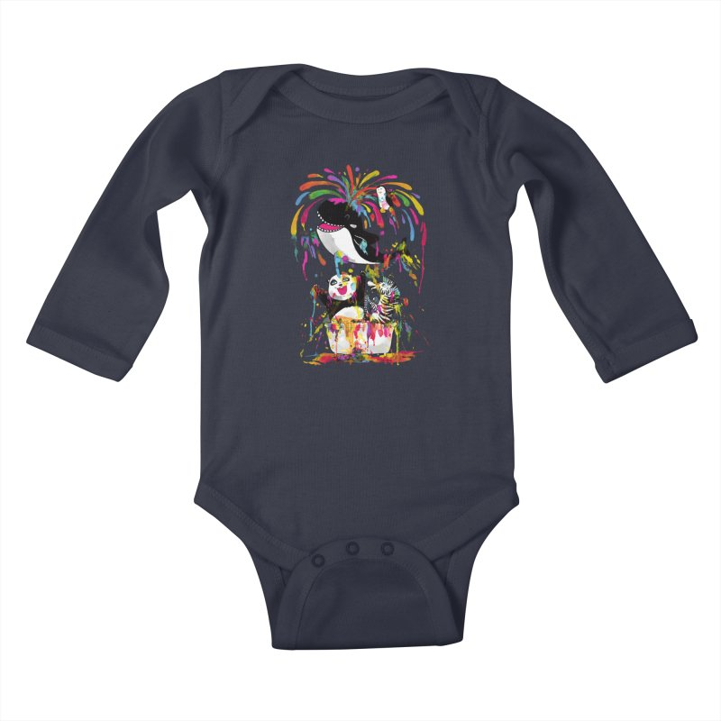 Whale of a Bath Time! Kids Baby Longsleeve Bodysuit by Apparel by Marco aka ivejustquitsmoking