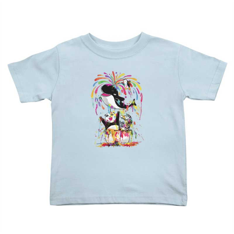 Whale of a Bath Time! Kids Toddler T-Shirt by Apparel by Marco aka ivejustquitsmoking