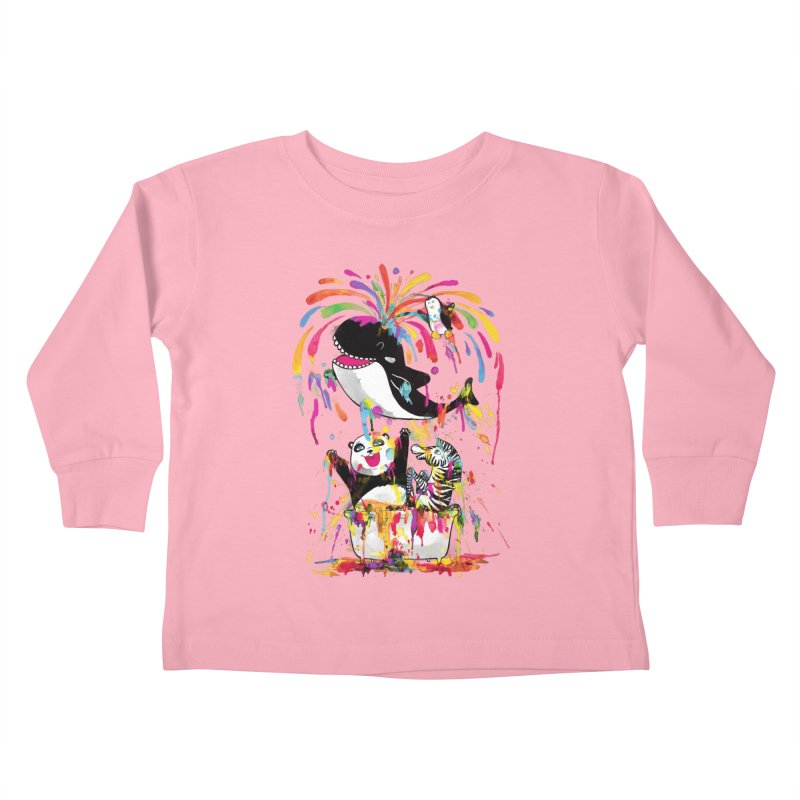 Whale of a Bath Time! Kids Toddler Longsleeve T-Shirt by Apparel by Marco aka ivejustquitsmoking