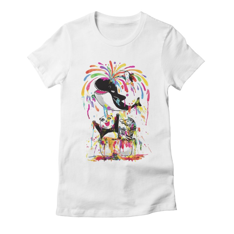Whale of a Bath Time! Women's Fitted T-Shirt by Apparel by Marco aka ivejustquitsmoking