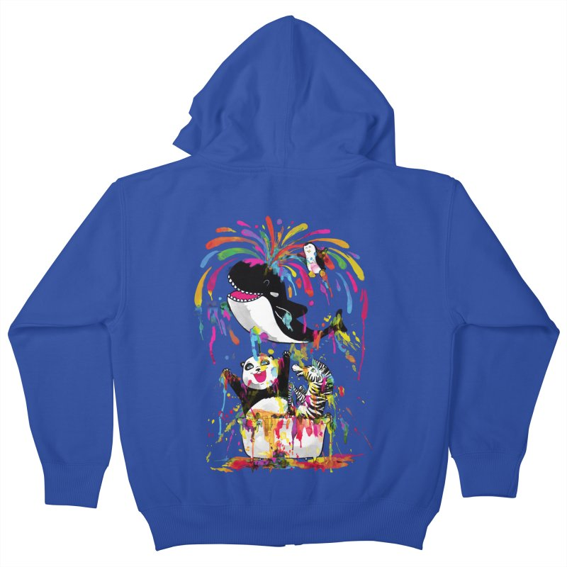 Whale of a Bath Time! Kids Zip-Up Hoody by Apparel by Marco aka ivejustquitsmoking