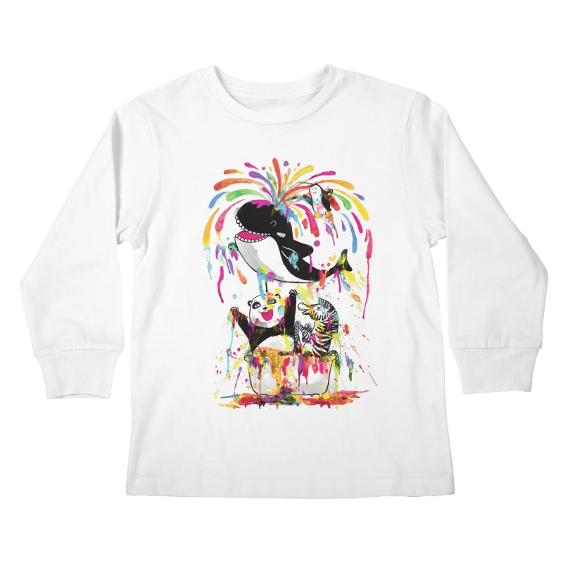 Whale of a Bath Time! Kids Longsleeve T-Shirt by Apparel by Marco aka ivejustquitsmoking