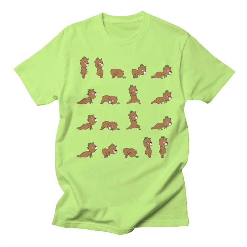 Yoga Bear Men's Regular T-Shirt by Apparel by Marco aka ivejustquitsmoking