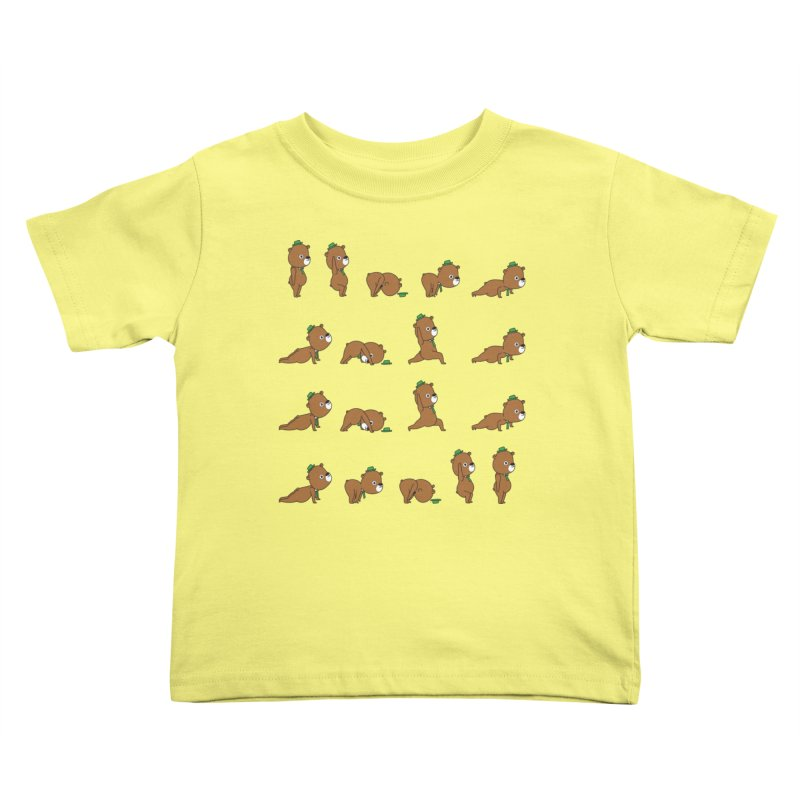 Yoga Bear Kids Toddler T-Shirt by Apparel by Marco aka ivejustquitsmoking