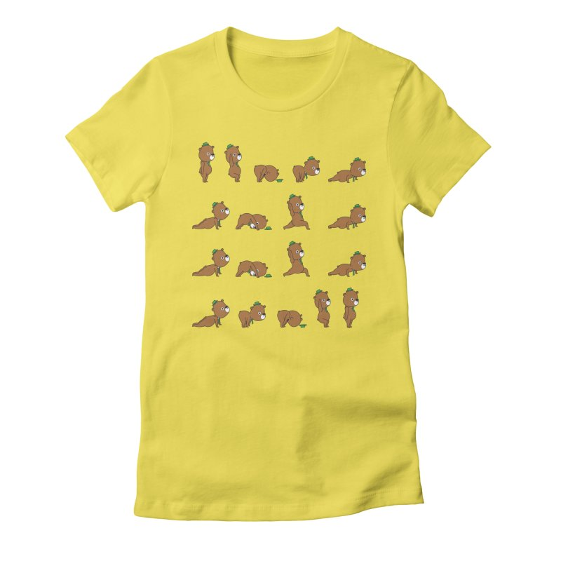 Yoga Bear Women's T-Shirt by Apparel by Marco aka ivejustquitsmoking