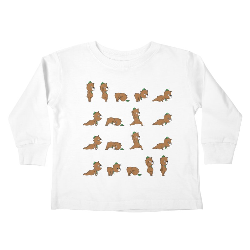 Yoga Bear Kids Toddler Longsleeve T-Shirt by Apparel by Marco aka ivejustquitsmoking