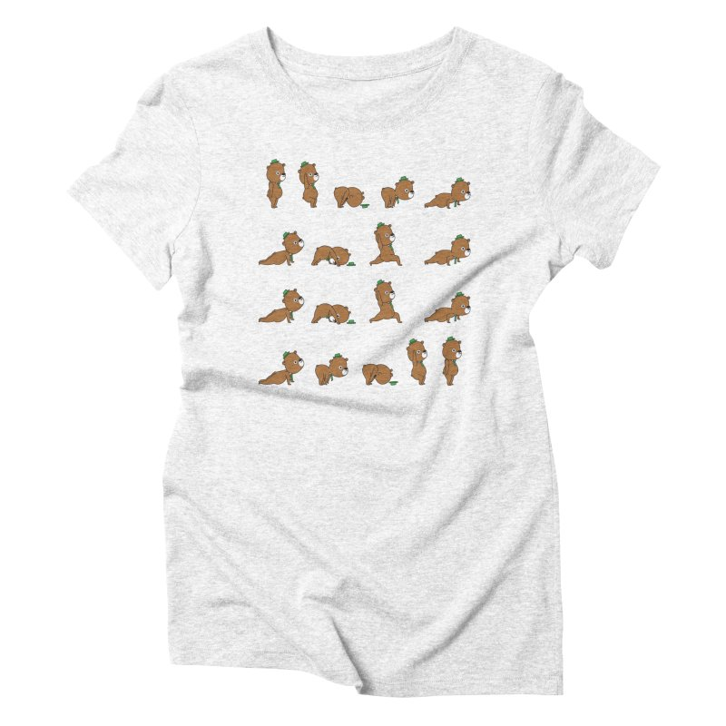 Yoga Bear Women's Triblend T-shirt by Apparel by Marco aka ivejustquitsmoking