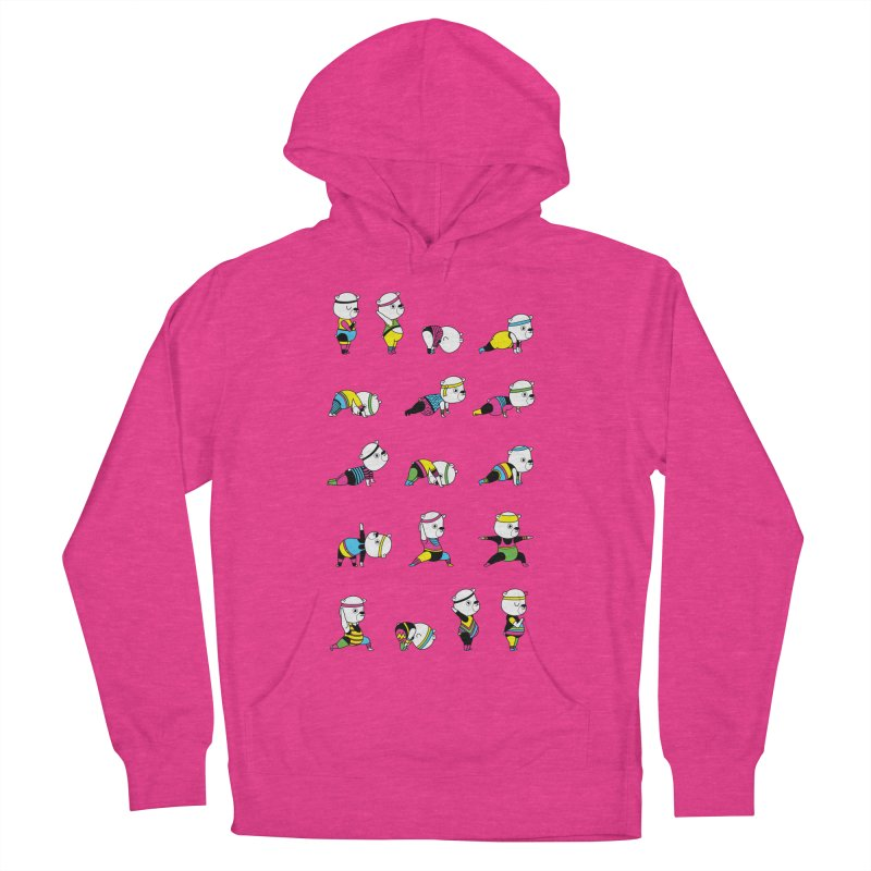 Yoga Bear 80's Remix Women's Pullover Hoody by Apparel by Marco aka ivejustquitsmoking