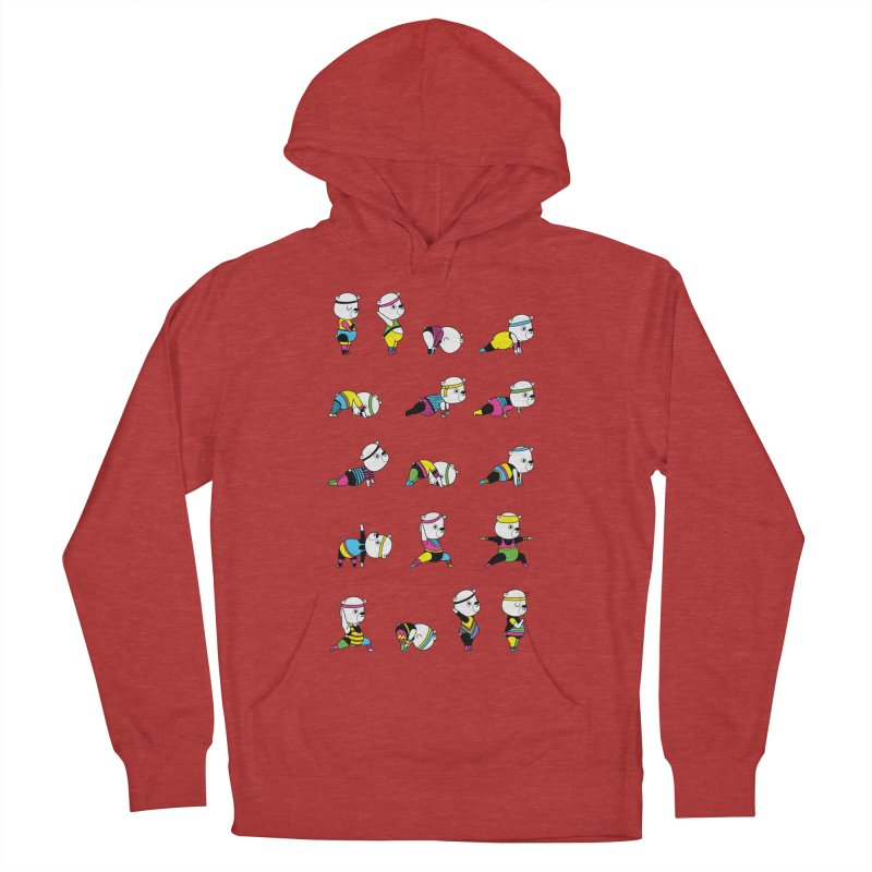 Yoga Bear 80's Remix Men's French Terry Pullover Hoody by Apparel by Marco aka ivejustquitsmoking