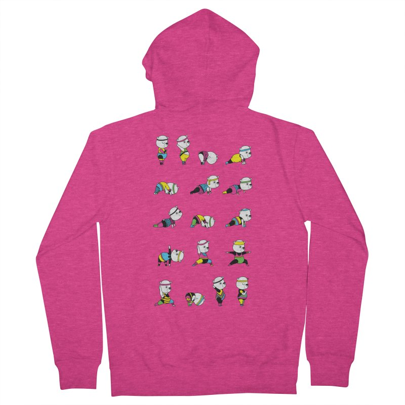 Yoga Bear 80's Remix Women's French Terry Zip-Up Hoody by Apparel by Marco aka ivejustquitsmoking