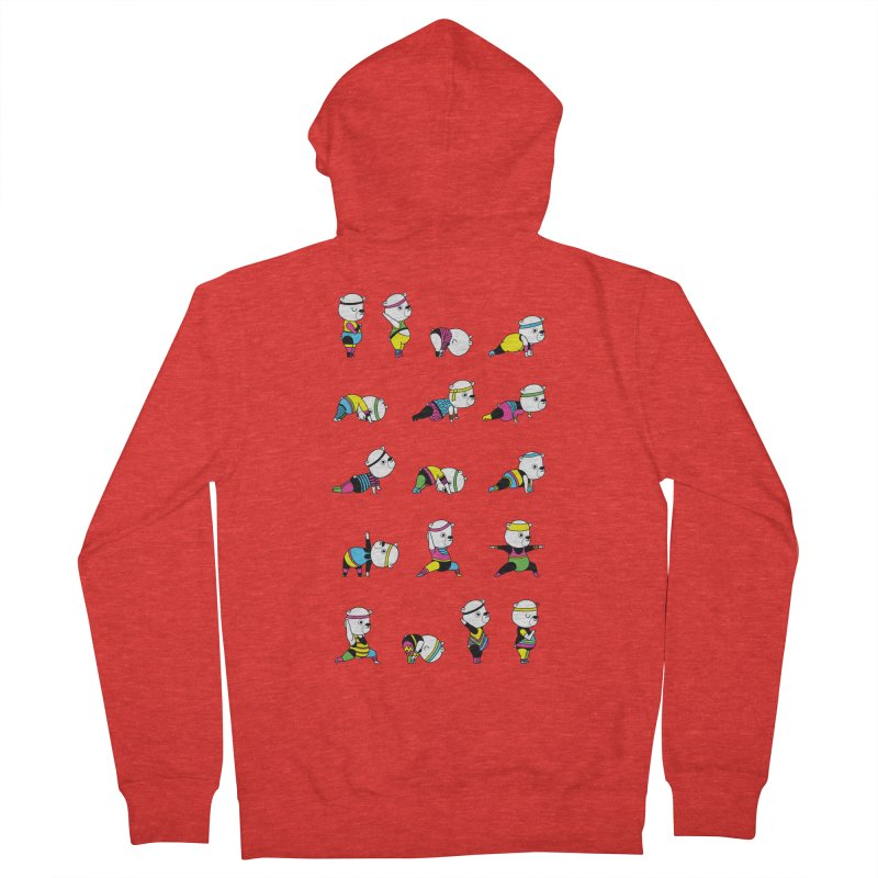Yoga Bear 80's Remix Men's Zip-Up Hoody by Apparel by Marco aka ivejustquitsmoking