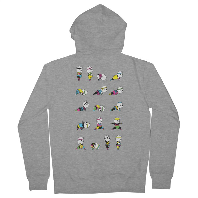 Yoga Bear 80's Remix Men's French Terry Zip-Up Hoody by Apparel by Marco aka ivejustquitsmoking