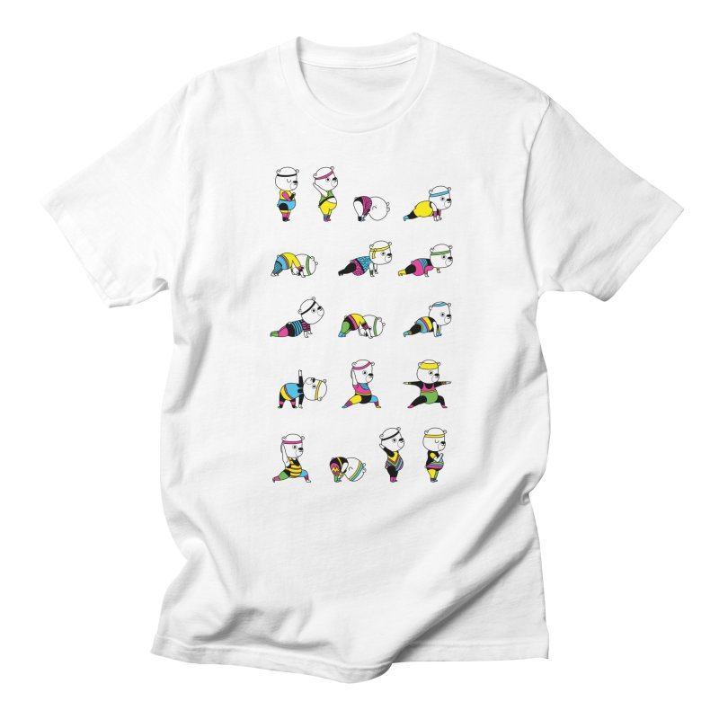 Yoga Bear 80's Remix Men's Regular T-Shirt by Apparel by Marco aka ivejustquitsmoking
