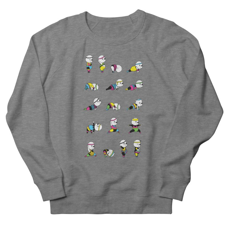 Yoga Bear 80's Remix Men's French Terry Sweatshirt by Apparel by Marco aka ivejustquitsmoking