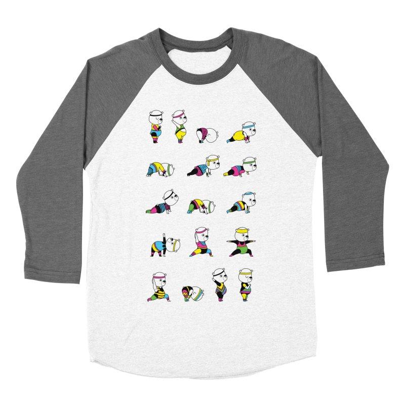 Yoga Bear 80's Remix Women's Baseball Triblend Longsleeve T-Shirt by Apparel by Marco aka ivejustquitsmoking