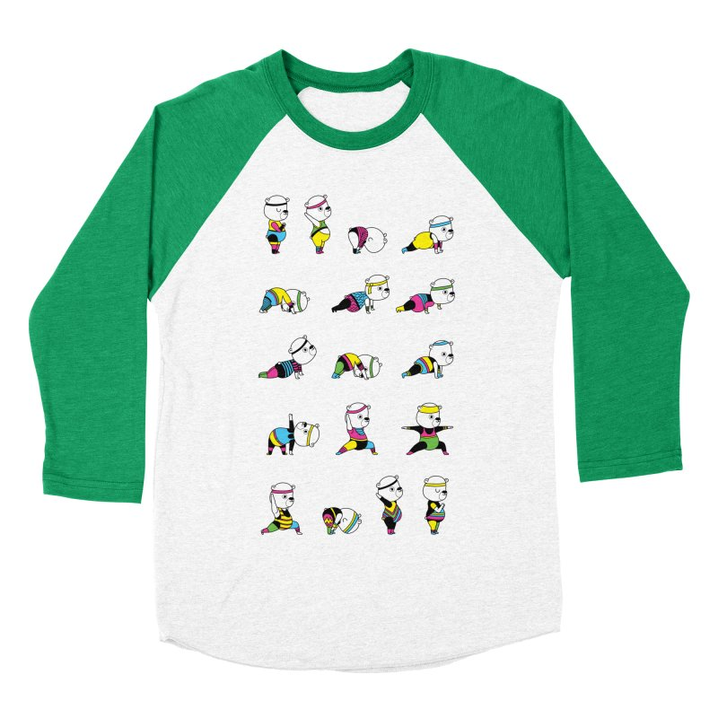 Yoga Bear 80's Remix Men's Baseball Triblend T-Shirt by Apparel by Marco aka ivejustquitsmoking