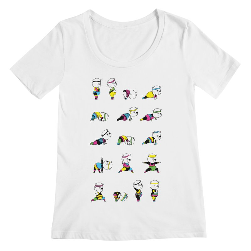 Yoga Bear 80's Remix Women's Regular Scoop Neck by Apparel by Marco aka ivejustquitsmoking