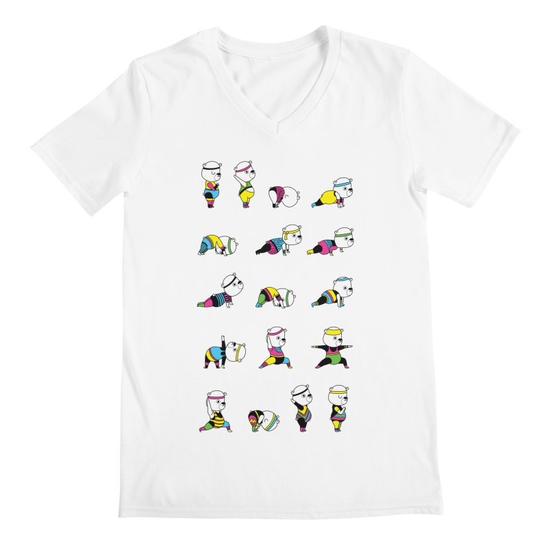 Yoga Bear 80's Remix Men's V-Neck by Apparel by Marco aka ivejustquitsmoking