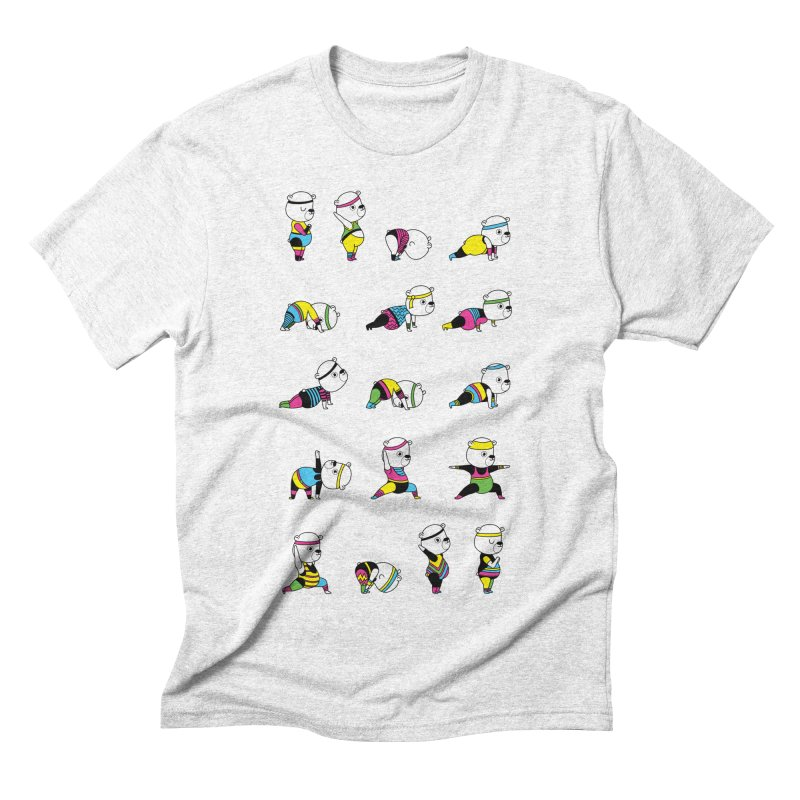 Yoga Bear 80's Remix Men's Triblend T-shirt by Apparel by Marco aka ivejustquitsmoking