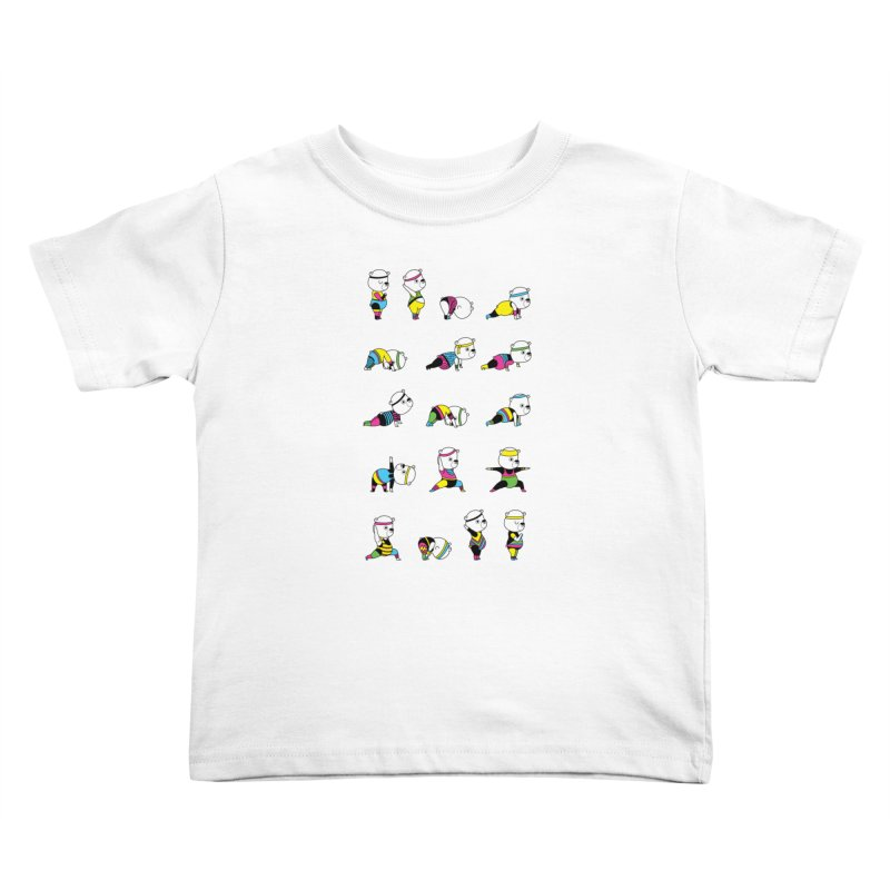 Yoga Bear 80's Remix Kids Toddler T-Shirt by Apparel by Marco aka ivejustquitsmoking