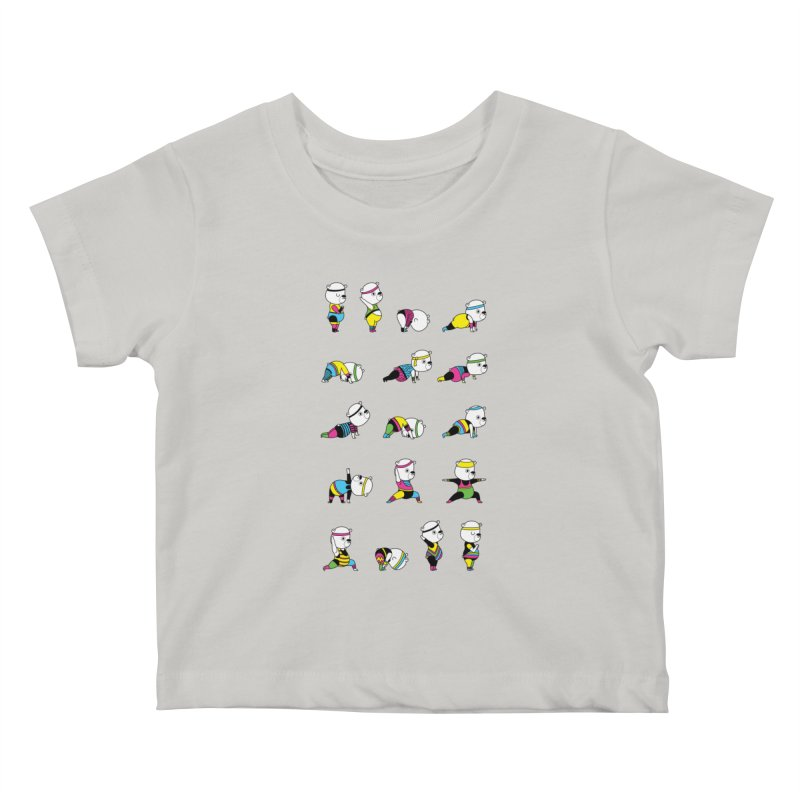 Yoga Bear 80's Remix Kids Baby T-Shirt by Apparel by Marco aka ivejustquitsmoking