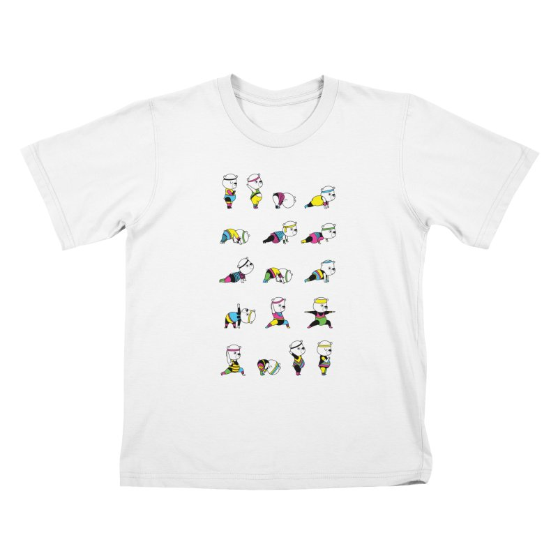 Yoga Bear 80's Remix Kids T-Shirt by Apparel by Marco aka ivejustquitsmoking