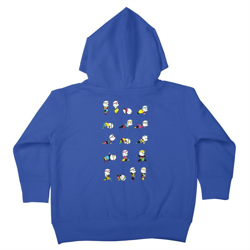 Yoga Bear 80's Remix Kids Toddler Zip-Up Hoody by Apparel by Marco aka ivejustquitsmoking