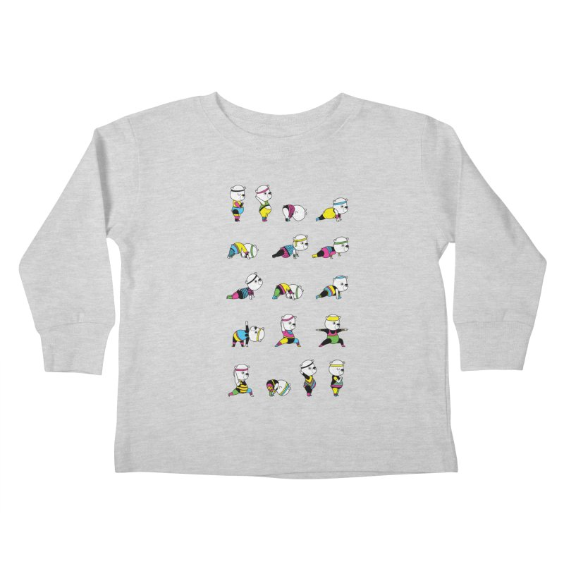 Yoga Bear 80's Remix Kids Toddler Longsleeve T-Shirt by Apparel by Marco aka ivejustquitsmoking