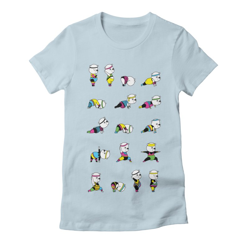 Yoga Bear 80's Remix Women's T-Shirt by Apparel by Marco aka ivejustquitsmoking