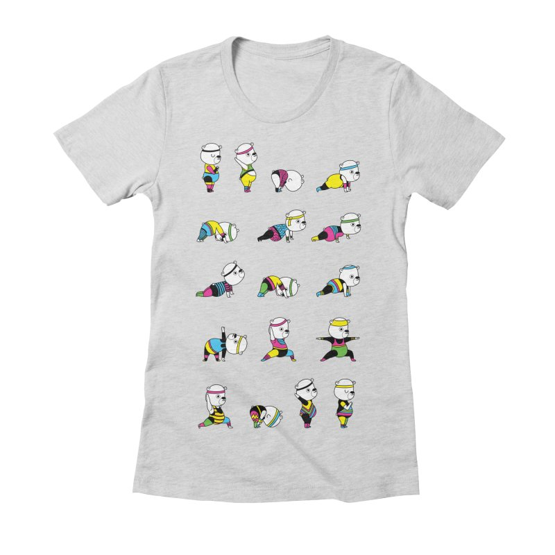 Yoga Bear 80's Remix Women's Fitted T-Shirt by Apparel by Marco aka ivejustquitsmoking