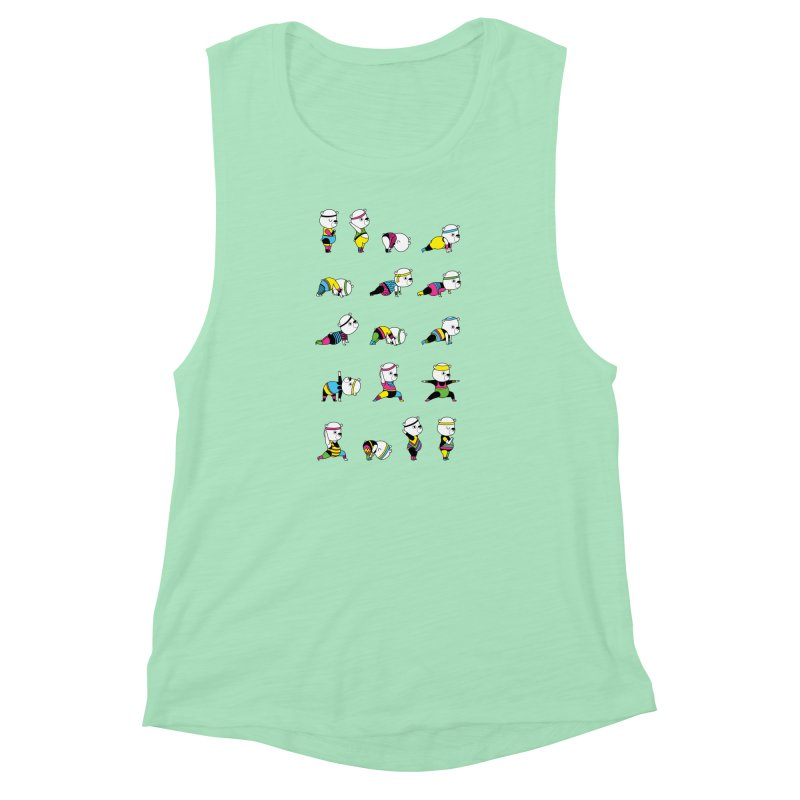 Yoga Bear 80's Remix Women's Muscle Tank by Apparel by Marco aka ivejustquitsmoking