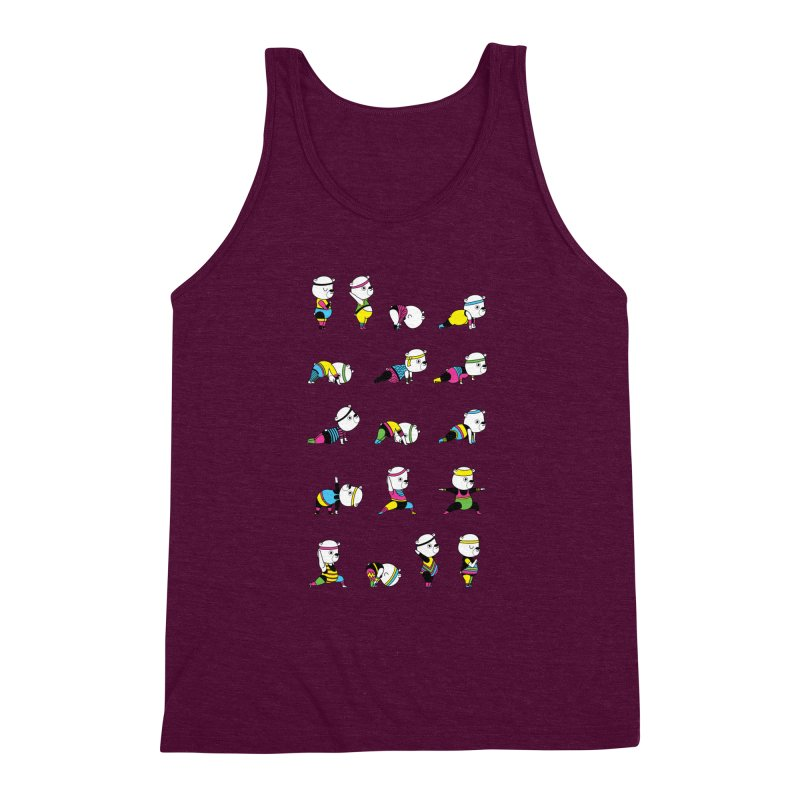 Yoga Bear 80's Remix Men's Triblend Tank by Apparel by Marco aka ivejustquitsmoking