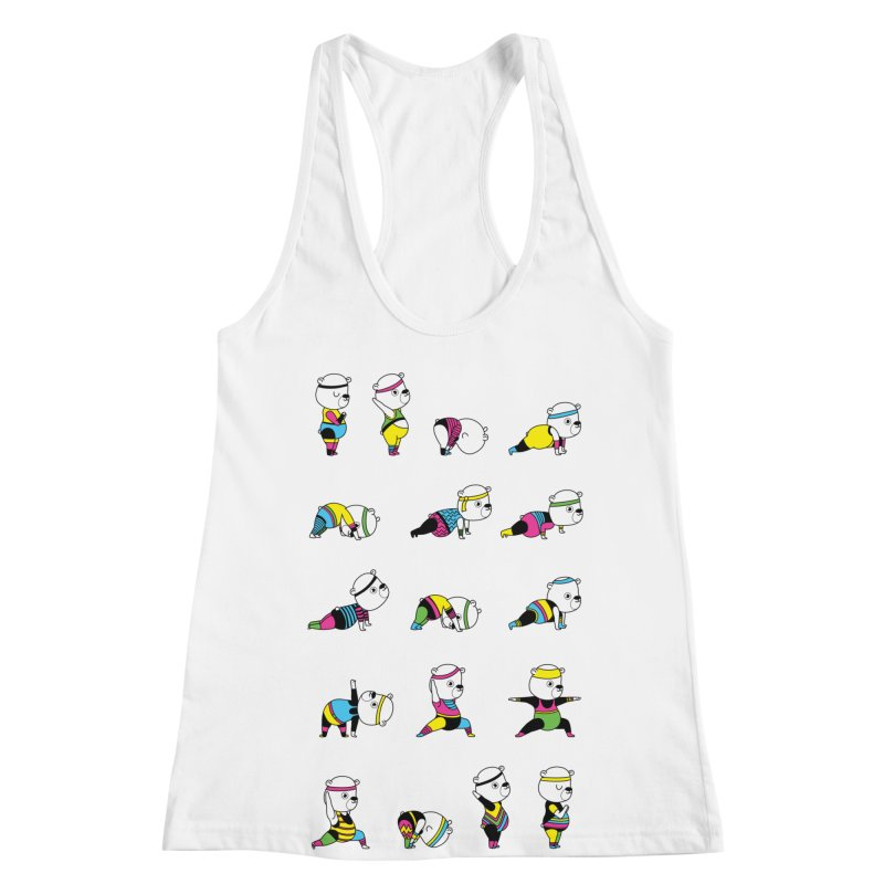 Yoga Bear 80's Remix Women's Racerback Tank by Apparel by Marco aka ivejustquitsmoking