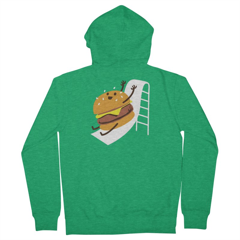 Slider Burger Women's Zip-Up Hoody by Apparel by Marco aka ivejustquitsmoking