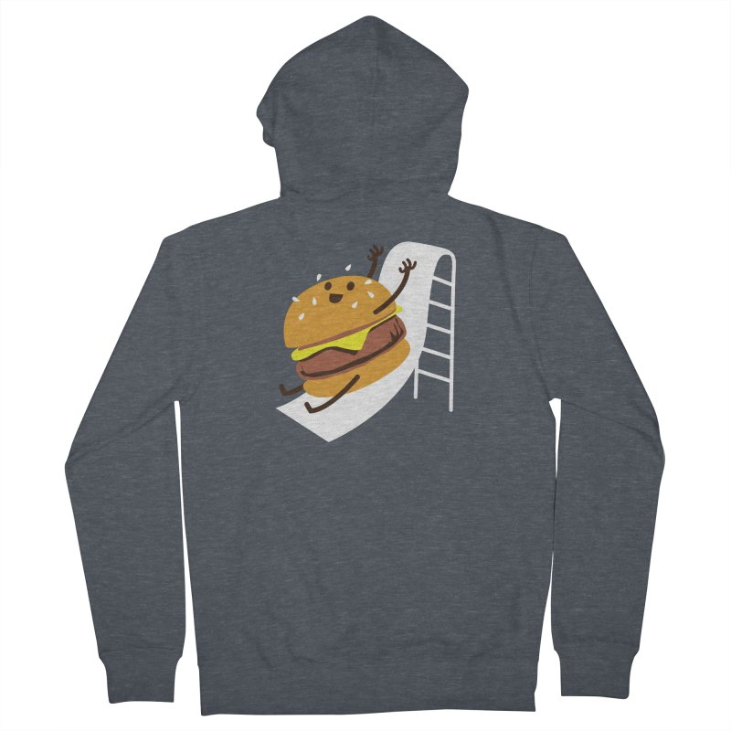 Slider Burger Women's French Terry Zip-Up Hoody by Apparel by Marco aka ivejustquitsmoking