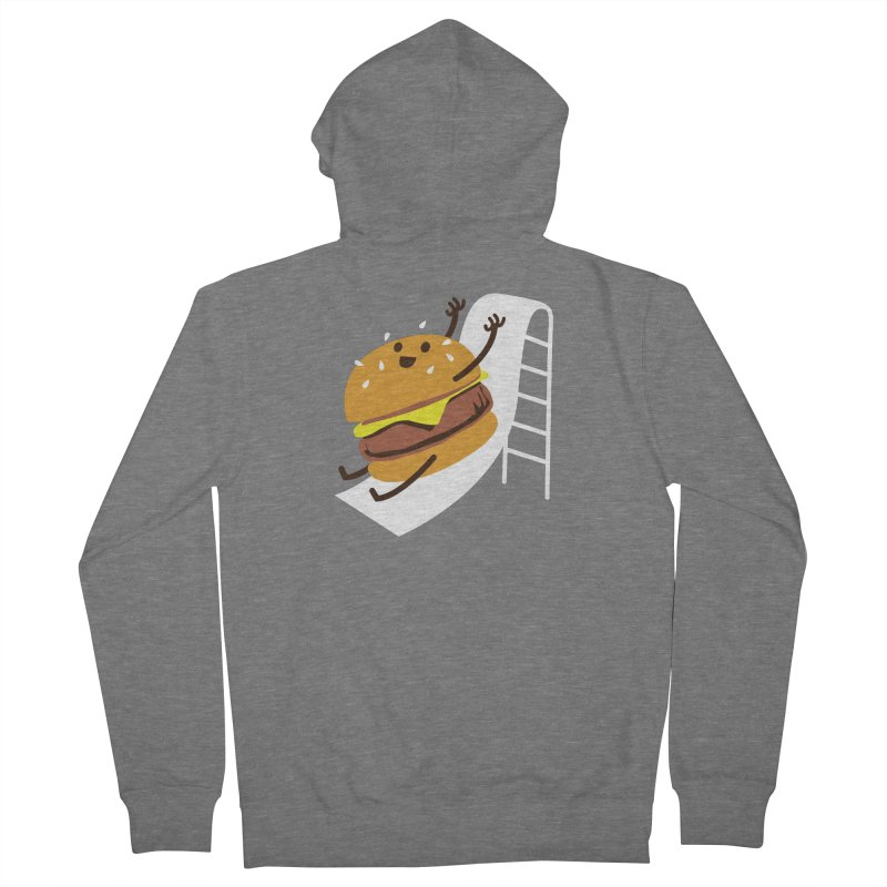 Slider Burger Men's French Terry Zip-Up Hoody by Apparel by Marco aka ivejustquitsmoking