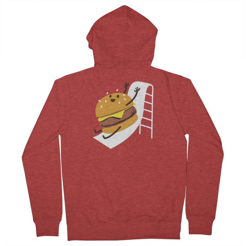 Slider Burger Men's Zip-Up Hoody by Apparel by Marco aka ivejustquitsmoking
