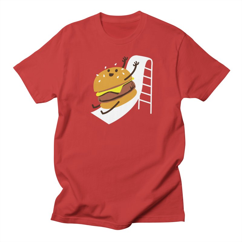 Slider Burger Men's Regular T-Shirt by Apparel by Marco aka ivejustquitsmoking