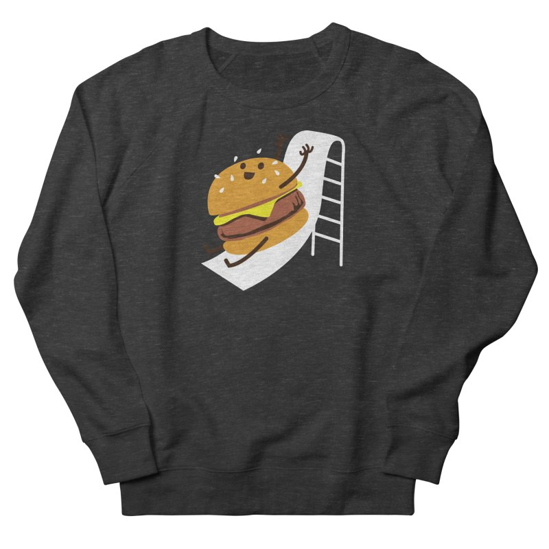 Slider Burger Women's French Terry Sweatshirt by Apparel by Marco aka ivejustquitsmoking