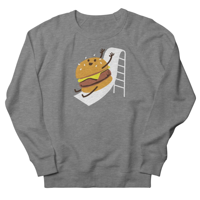Slider Burger Men's French Terry Sweatshirt by Apparel by Marco aka ivejustquitsmoking