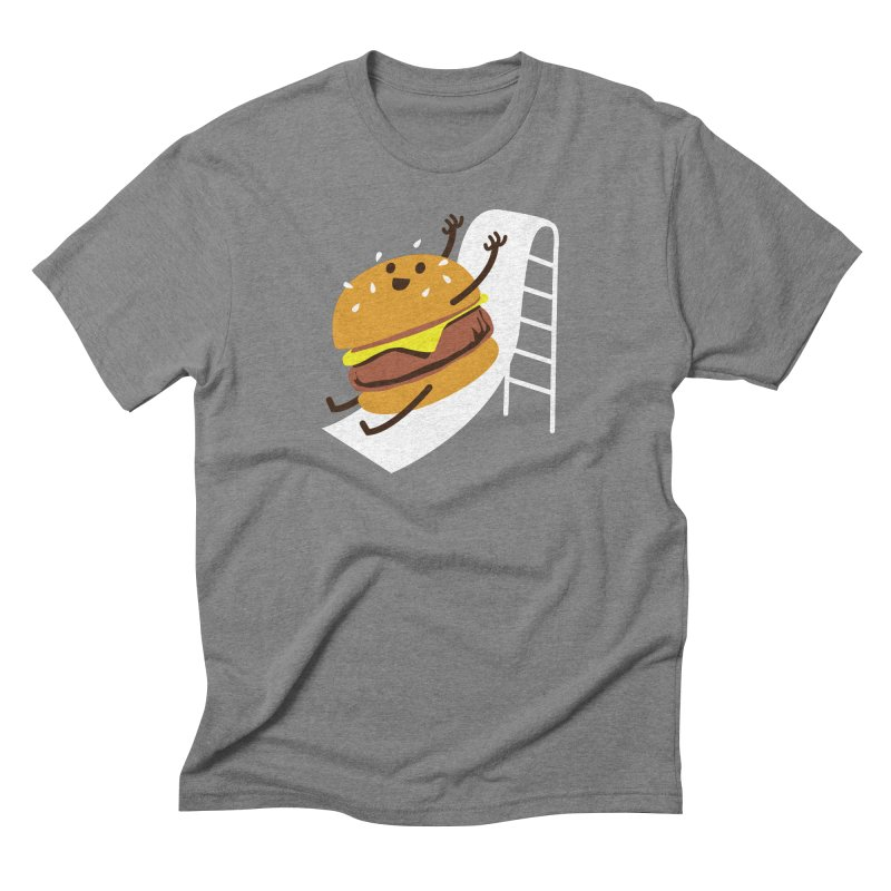 Slider Burger Men's Triblend T-Shirt by Apparel by Marco aka ivejustquitsmoking