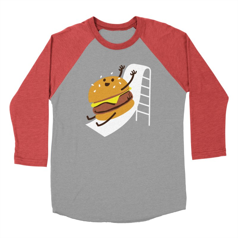 Slider Burger Men's Baseball Triblend Longsleeve T-Shirt by Apparel by Marco aka ivejustquitsmoking